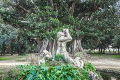 Triton of Villa Trabia. The statue of Triton in the park of Villa Trabia, Palermo Royalty Free Stock Photo