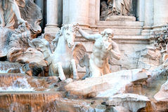 Triton and Winged Horse of the Trevi Fountain. Stock Image