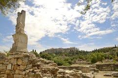 Tritoni antichi dell'agora Fotografia Stock Libera da Diritti