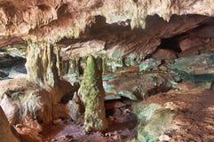 Tritonshorn-Stab-Höhlen, mittlerer Caicos Stockfotos