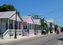 Tritonshornhäuser, Key West lizenzfreies stockbild