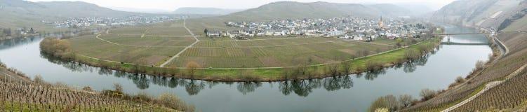Trittenheim et la Moselle images libres de droits