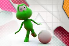 Trittillustration des Frosches 3d Lizenzfreie Stockbilder