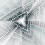 Tritunnel. Triangle tunnel or spaceship rendering Royalty Free Stock Photography