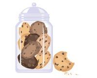 Trituração da cookie ilustração do vetor