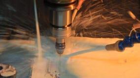 Trituração da perfuração do CNC video estoque