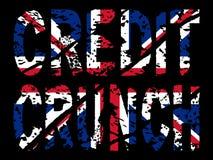 Trituração de crédito com bandeira britânica ilustração do vetor