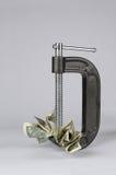 Trituração do dinheiro Foto de Stock Royalty Free
