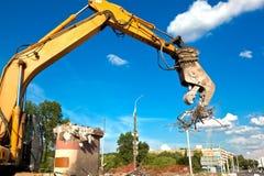 Triturador concreto hidráulico Fotografia de Stock Royalty Free