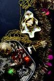 Triture a torta com decoração do Natal Fotos de Stock Royalty Free