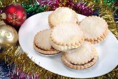 Triture tortas e decorações do Natal Fotografia de Stock