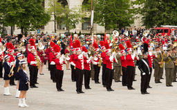 Triuggio Marching Band from Italy Stock Photography