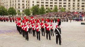 Triuggio marschmusikband från Italien Arkivfoto