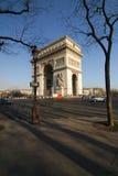 triumf arch Paryża Obraz Royalty Free