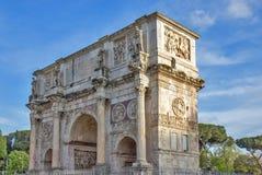 Triumf- båge av Constantine i Rome, Italien Royaltyfria Bilder