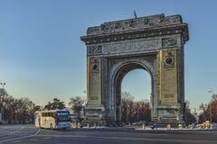 Triumf- båge Bucharest, Rumänien royaltyfri foto