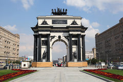 Triumf- båge i Moskva Royaltyfria Bilder