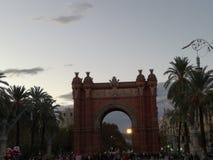 Triumf för bågde-la, i att förbluffa barcelona Royaltyfri Foto