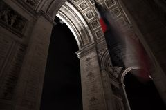 Triumf för Paris bågde royaltyfria bilder