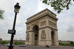 triumf för triomphe för de france paris för båge ärke- Royaltyfria Foton