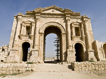 triumf jerash arch hadrian Obraz Stock