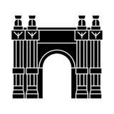Triumfalnego łuku ikona, wektorowa ilustracja, czerń znak na odosobnionym tle Obrazy Royalty Free