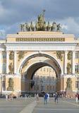 Triumfalny łuk sztab generalny na pałac kwadracie fotografia royalty free