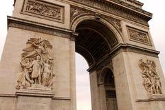 Triumfalny łuk w Paryż Obrazy Stock