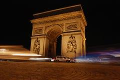Triumfalny łuk w Paryż Zdjęcie Stock