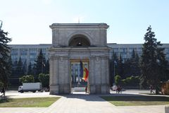 Triumfalny łuk, Kishinev Chisinau Moldova Obrazy Royalty Free