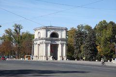Triumfalny łuk, Kishinev Chisinau Moldova Zdjęcia Stock