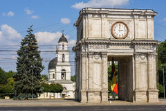 Triumfalny łuk w Chisinau, Moldova Fotografia Stock