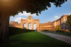 Triumfalny łuk w Bruksela, Belgia Zdjęcia Royalty Free