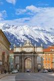 Triumfbåge - Innsbruck Österrike Royaltyfri Fotografi