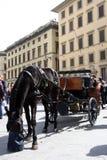 Triumfvagn i den historiska mitten av Florence Royaltyfri Bild