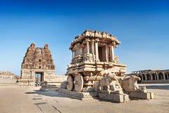 Triumfvagn- och Vittala tempel Arkivfoto