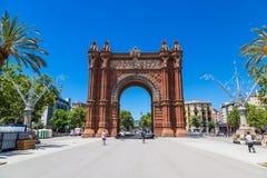 Triumph łuk Barcelona zdjęcie royalty free