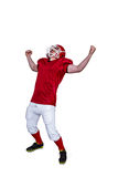 A triumph of an american football player Royalty Free Stock Images