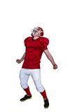 A triumph of an american football player Royalty Free Stock Photography