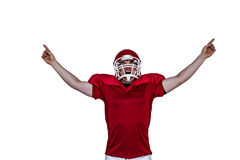 A triumph of an american football player Stock Images