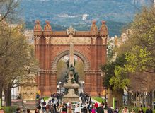 Triumph Arc in Barcelona Royalty Free Stock Photo