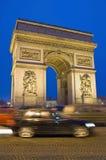 Triumph Arc at Paris, France. Sunset on Triumph Arc located at Paris, France Stock Image
