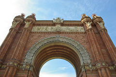 Triumph Arch (Arc de Triomf), Barcelona. Arc de Triomphe (Arc de Triomf) was built for the World Fair in 1888. It is a creation of architect Yosep Vilaseka and Royalty Free Stock Image