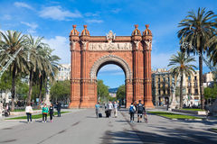 Triumph Arch (Arc de Triomf), Barcelona, Spain Royalty Free Stock Image