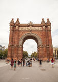 Triumph Arch (Arc de Triomf), Barcelona. Arc de Triomphe (Arc de Triomf) was built for the World Fair in 1888. It is a creation of architect Yosep Vilaseka and Royalty Free Stock Photos