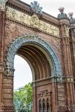 Triumph Arch in Barcelona, Spain. Triumph Arch, Arc de Triomf in a cloudy day Royalty Free Stock Photography