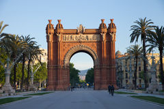Triumph Arch Barcelona. Famous Triumph Arch of Barcelona (Spain) at Sunrise Royalty Free Stock Photography