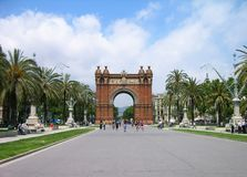 Triumph Arch, Barcelona, Spain Royalty Free Stock Photo