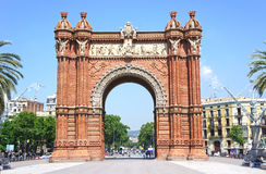 Triumph Arch of Barcelona, Spain.  Royalty Free Stock Image