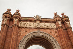 Triumph Arch of Barcelona, Spain Royalty Free Stock Photo